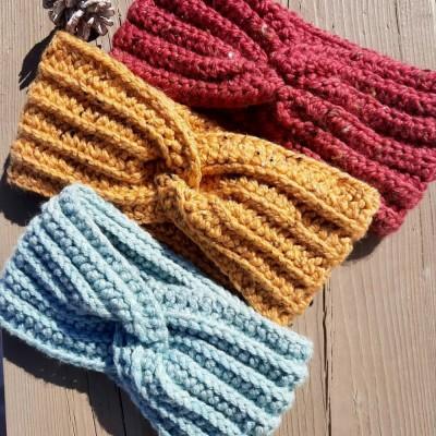 Bandeau/Headband au crochet Printemps/Hiver, Femmes, Filles